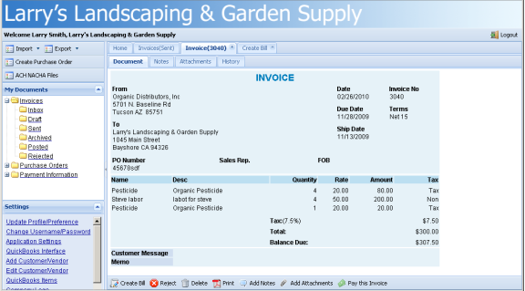 Wwwinlatticecom - What does a quickbooks invoice look like